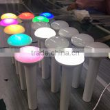 3 step dimmer led portable lamp white blue pink RGB changing color led torch light desk lamp