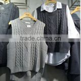 Alibaba express wholesale mens' round neck vest pullover computer knitted sweater