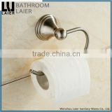 Grooming Wholesale Prices Zinc Alloy Brush Nicked Bathroom Sanitary Items Wall Mounted Toilet Paper Holder
