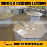 chemical resistant HPL laminate for LAB bench