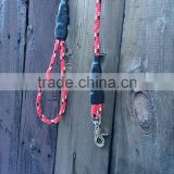 Heavy Duty Climbing Rope Dog Leash - 3/8 Inch Rope - Red and Black/White Line