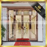 Luxury Golden Color 304 Stainless Steel Grill Door Design