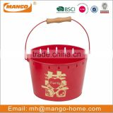 Red Metal Wedding Decorative flower bucket
