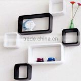 MDF decorative cube wall shelf