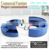 Freedom combination of color round shape sofa stool bench for shopping mall public area high fashion project furniture modern
