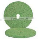 KMJ-BS005 green color bias open sisal buff wheel with high quality