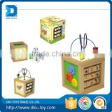 Plastic baby math cube toys 3d wooden toy with great price