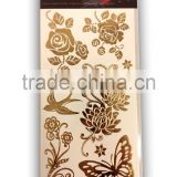 Foil Tattoo Fashion Sticker, Temporary tattoos Sticker. Easy to apply & remove, Nontoxic, Waterproof, Lasts for days sticker