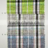 yarn dyed coolmax linen blend check fabric for shirt