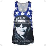 2016 Summer Custom Printed Womens Full back Tank Top Fashion Sublimation Printed Tank Top Wholesale 3D Digital Printed T Shirt