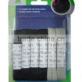 black&grey polyester material flat custom made shoe laces