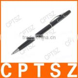 2-in-1 Ballpoint Pen + Capacitive Touchpad Stylus Pen for Apple iPad/iPhone/Touch - Black + Silver