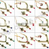 Wholesale Kundan Jadau jewellery-Indian handmade Bridal kundan Jewelry-Bollywood style Kundan necklace set-Indian ethnic jewelry