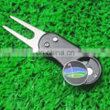 Customized Golf Ball Marker Pitch Mark Divot Repair Switchblade Tool