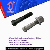 wheel hub bolt manufacturer China Maz 54321-3104050