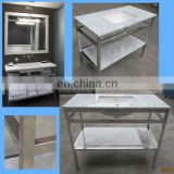 contemporary bathroom vanity console, vessel sink stand