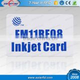 13.56MHZ F08 Contactless Smart Inkjet PVC Cards