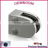 customized aluminum glass door clamps with polishing