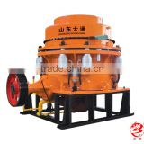 Multi-cylinde hydraulic cone crusher,stone crusher machine with tire type , casting structure