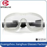 Shatterproof kitchen tear free onion cutting goggles red frame yellow lens eye glasses construction metalworking woodworking