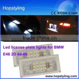 Emark Car light LED license plate lamp for BMW E46 2D license plate light canbus No error code