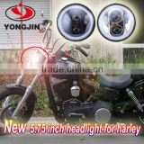 Automobiles & motorcycles 12v 24v 45w 5.75 inch black with angle eye motorcycle led headlight for harley