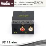 Audio Amplifier Coaxial or Toslink to L/R audio or 3.5mm audio Anolog HDMI converter Gaia-Vision HD-C1013