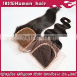 New Arrival Human Brazilian Hair Weave Frontal Closures Silk Lace Frontal
