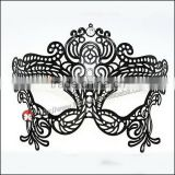 Luxury Black Metal Laser Cut Venetian Mask Innovation Rhinestones