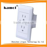 best quality smart app female unique designUSA usb wall socket 125v 15a 2 gang electric outlet with dual usb