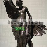 Outdoor nude modern angel bronze sculpture