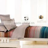 2016 new designs pigment printing stripes and grid print bedding set made in <b>Sichuan</b>