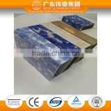 2016 New design New surface treatment blue and white porcelain T3-T8 Temper aluminum extrusion profile