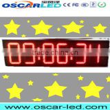 led board clock /gas price sign digit electronic clock led display screen petrol station led 8 inch single color red led display