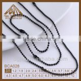 Fashion metal black nickel ball chain