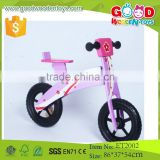 2015 purple and black color wood bike kids, ride on bike toy with factory price