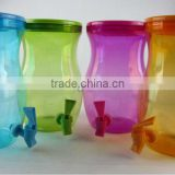 4700ml Plastic Beverage Dispenser Drink Dispenser food grade water container PET juice dispenser