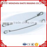 2mm Stainless steel wire rope with snap hook , stainless steel wire rope with quick link in rigging hardware manufacturer