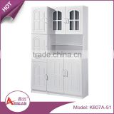 China kitchen room movable simple cheap modular pvc board storage wooden modern new model kitchen cabinet