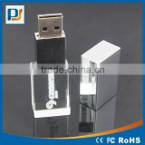 High Quality Full Capacity Crystal 16GB USB Flash Drive 8GB USB Disk Memory 3D Laser Engraved Logo in USB Key