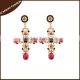 New design fashionable colorful beads Jesus cross earrings/                                                                                                         Supplier's Choice