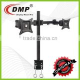 "LCD352-D Dual LCD Monitor Desk Mount Arm C-Clamp Adjustable Tilting, Rotate for 27"" Screen"