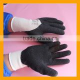 China Wholesale Polycotton Shell Latex 3/4 Coated Safety Work Glove, Construction Working Industrial Gloves
