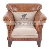INDUSTRIAL INDIAN VINTAGE LEATHER SOFA