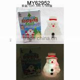 christmas snowman pvc vinyl toy with 7 color lights