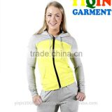 Womens sports workout jogging fitness gym set dye slim fit hoodie
