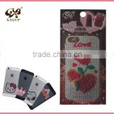 rhinestone crystal stickers for iphone /glitter sticker for iphone 5 /cell phone diamond stickers