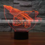 F22 Jet Fighter 3D Visual Effect Led Table Lamp