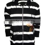 custom men's yarn dye strips fleece out wear with cheap high quality hot sale in 2015