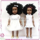 Baby twins black girl dolls Design lovely dolls 18 inch Girl Black Girl